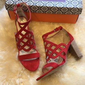 Isola Despina Lipstick Red Suede Heels